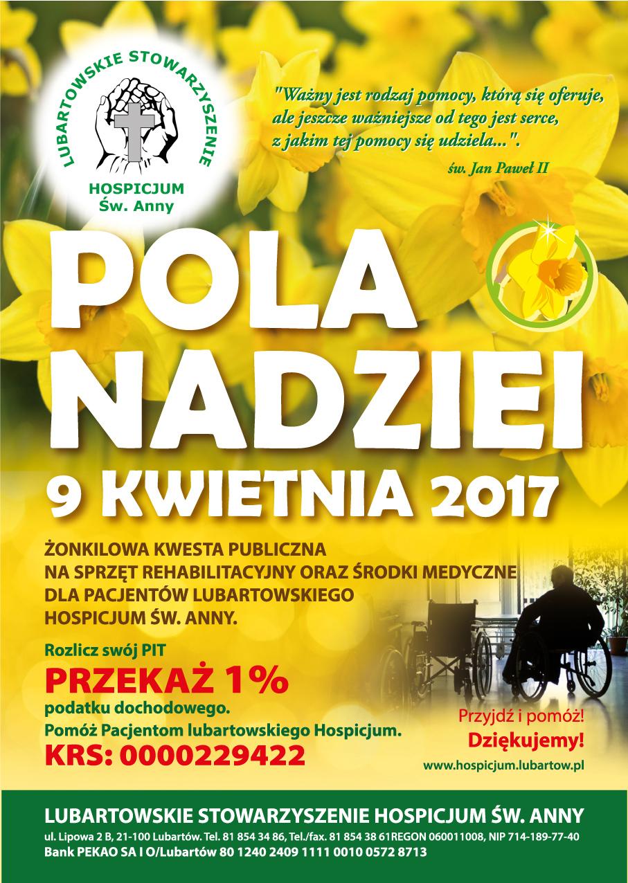 Plakat Pola Nadziei 2017